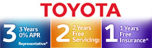 Toyota 3, 2, 1 Offer